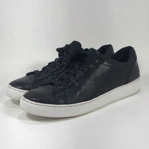 Vionic Syra Casual Sneaker Size 9 Black Leather